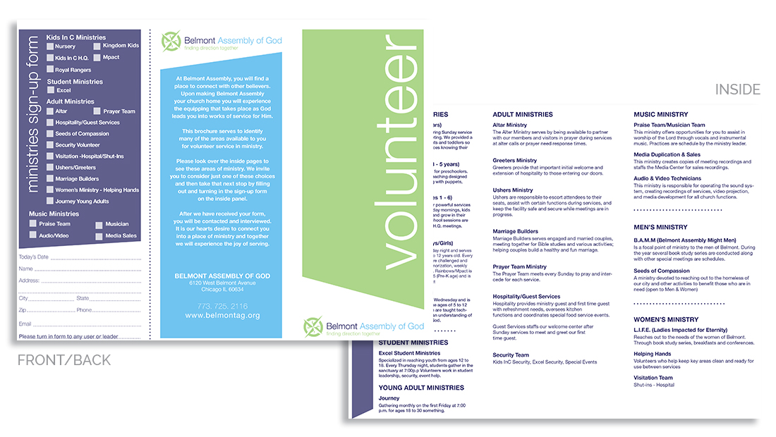 Volunteer Packet Design