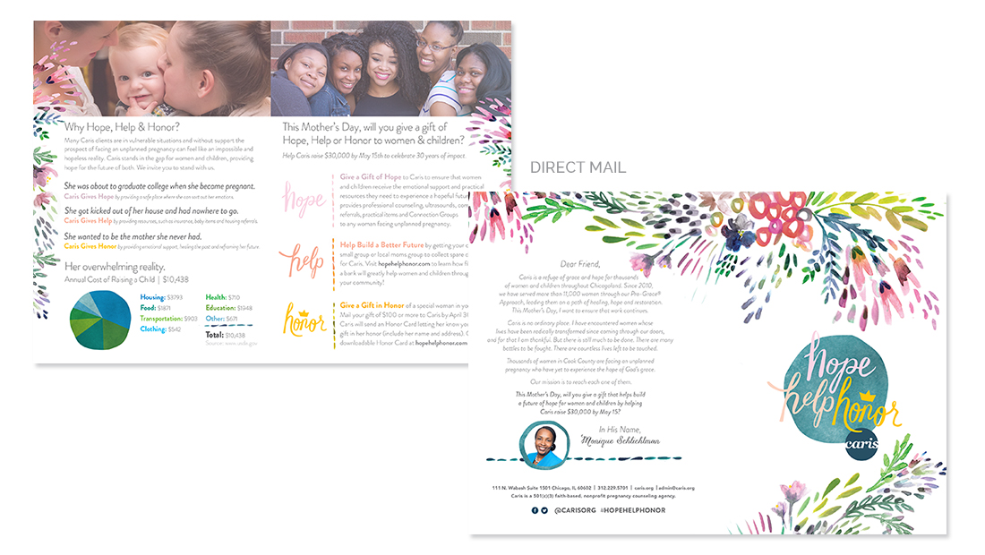 Caris Hope Help Honor 2016 Direct Mail