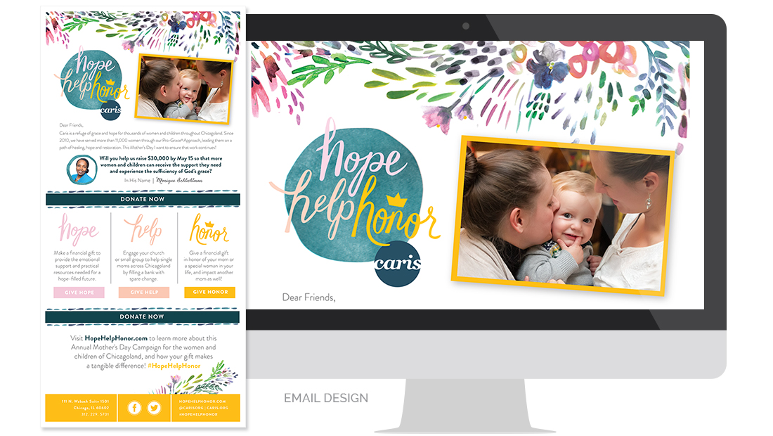 Caris Hope Help Honor 2016 Email Design