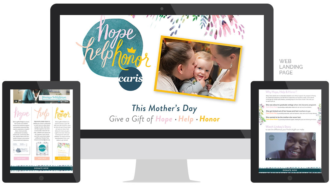 Caris Hope Help Honor 2016 Web Landing Page