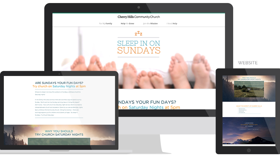 Cherry Hills Community Church Website Design