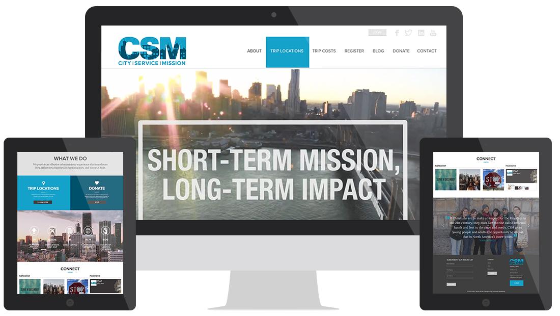 City Service Mission Website Design Homepage
