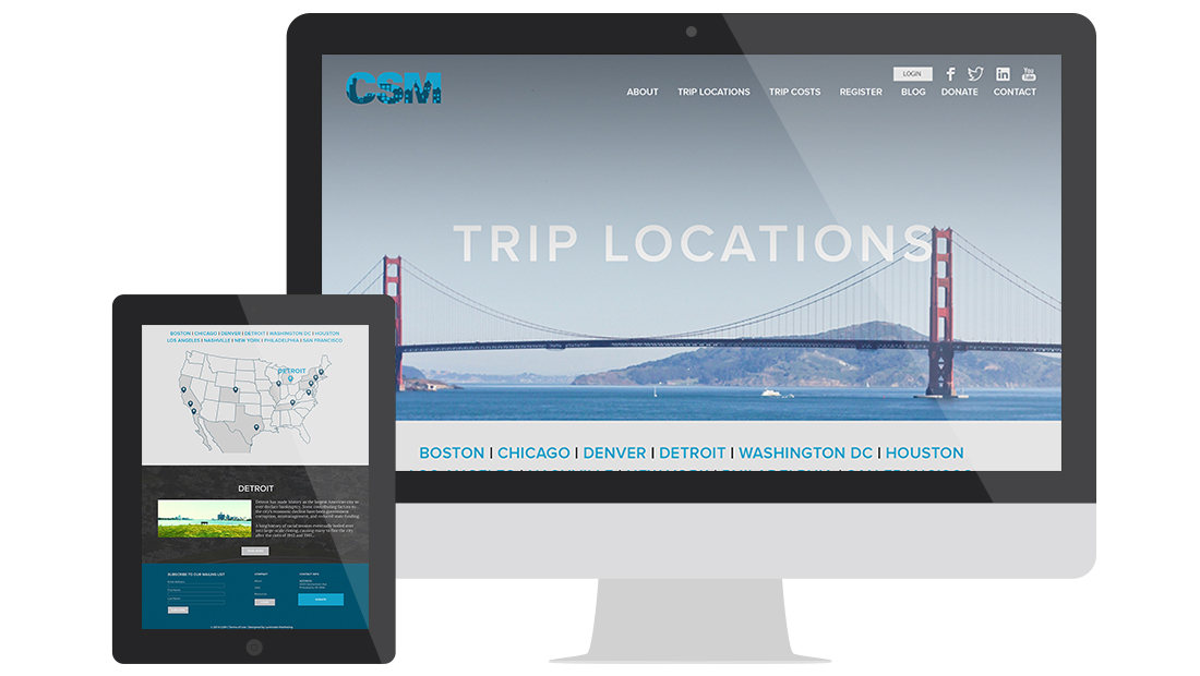 City Service Mission Website Design Trip Locations