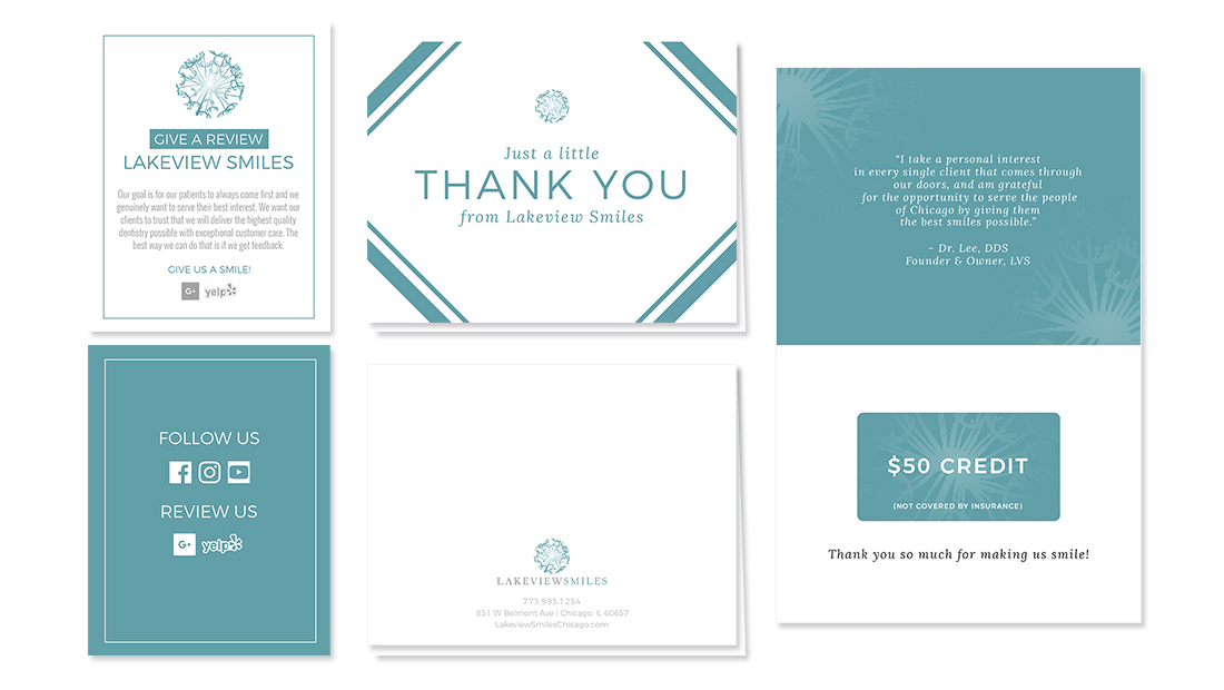 Lakeview Smiles Review & Thank You Cards