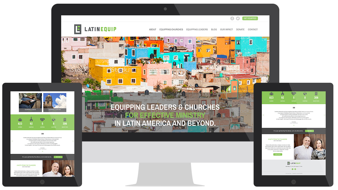 Latin Equip Website Design